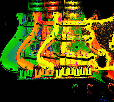Photograph - Triple Pickguards by Guitar Wacky