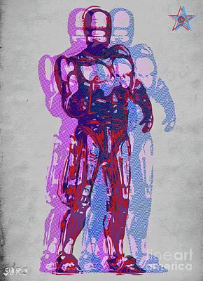 Mixed Media - Triple Robocop Rbp by Surj LA