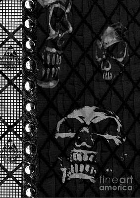 Triple Skulls Art Print by Roseanne Jones