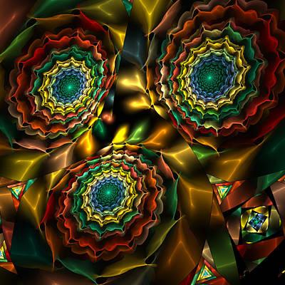 Triple Vortex Art Print