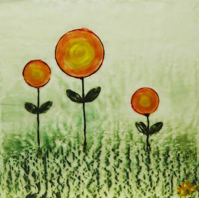 Painting - Triplets by Terry Honstead