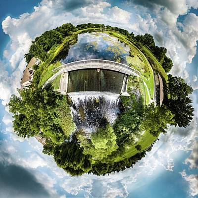 Photograph - Trippe Lake Dam Little Planet by Randy Scherkenbach