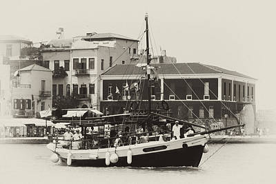 Chania Photograph - Trippers Sail From Chania by Paul Cowan