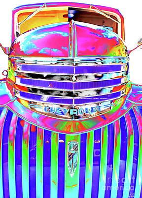 Digital Art - Trippin  Vintage Chevy  by Expressionistart studio Priscilla Batzell