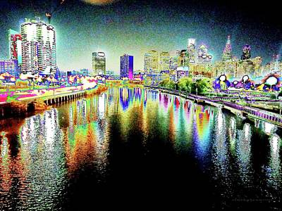 South Philly Digital Art - Tripping Across The South Street Bridge by Vince Green