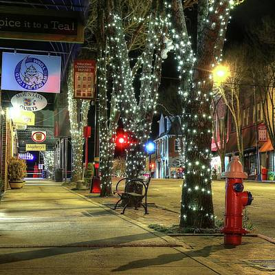 Photograph - Tripping The Light In Downtown Brevard North Carolina by Carol Montoya