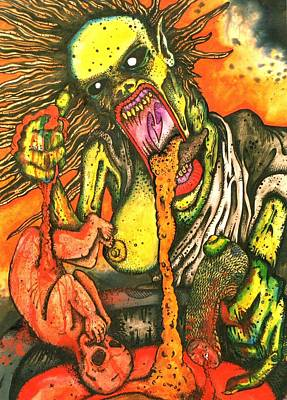 Vomit Painting - Tripping Witch by Sam Hane