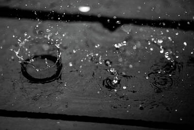 Photograph - Tripple Splash by Digiblocks Photography