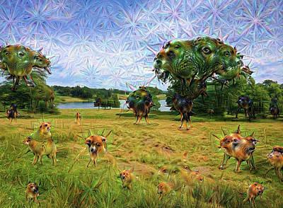 Photograph - Trippy Chesire England Google Deep Dream 01 by Matthias Hauser