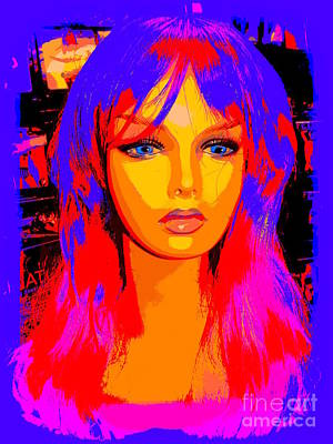 Digital Art - Trippy Trina by Ed Weidman