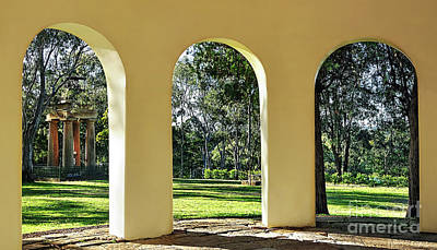 Photograph - Triptych View Through Arches By Kaye Menner by Kaye Menner