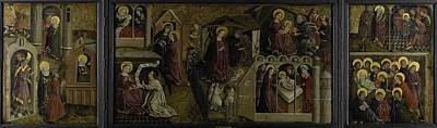 Painting - Triptych With Scenes From The Life Of Mary  Anonymous  Ca  1450 by R Muirhead Art