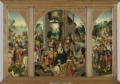 Painting - Triptych With The Adoration Of The Magi by R Muirhead Art