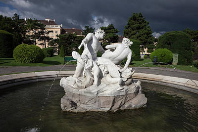 Naiad Photograph - Triton And Naiad Fountain In Vienna by Artur Bogacki