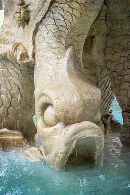 Photograph - Triton Fountain Rome Italy by Joan Carroll