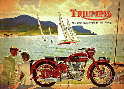 Digital Art - Triumph Advertisement by Steven Parker