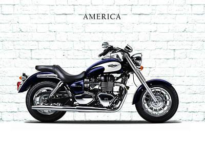 Harley Davidson Photograph - Triumph America by Mark Rogan