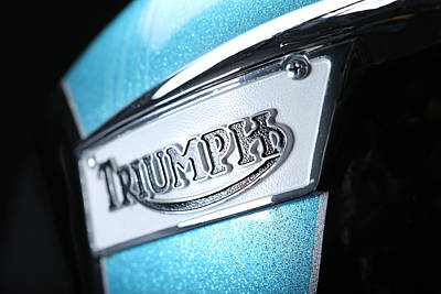 Photograph - Triumph Badge by Keith May