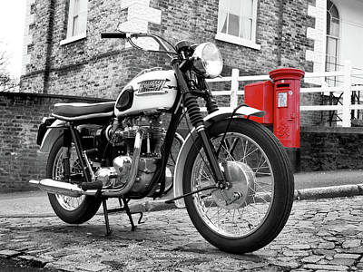 Triumph Bonneville Photograph - Triumph Bonneville 1963 by Mark Rogan