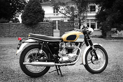 Triumph Bonneville Photograph - Triumph Bonneville 1964 by Mark Rogan