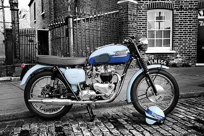 Triumph Bonneville Photograph - Triumph Bonneville T120 1960 by Mark Rogan