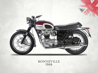Photograph - Triumph Bonneville T120 1968 by Mark Rogan
