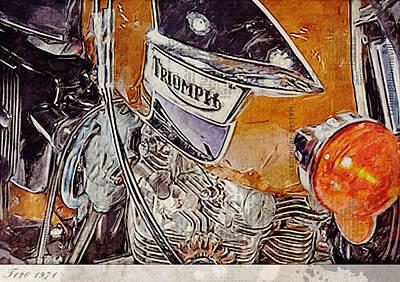 Triumph Bonneville T120 1971 Art Print by Yurdaer Bes