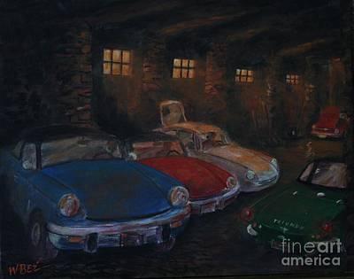 Service Garage Painting - Triumph Garage by William Bezik