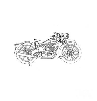 Final Four Drawing - Triumph Laverda by Stephen Brooks
