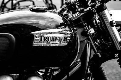 Classic Triumph Motor Bike Art Print by Georgia Fowler