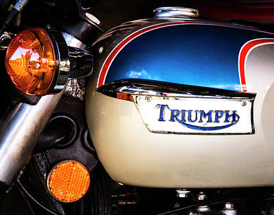 Photograph - Triumph Motorcyle by Andy Crawford