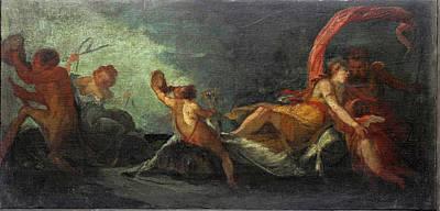 Painting - Triumph Of Neptune And Amphitrite by Giuseppe Bazzani