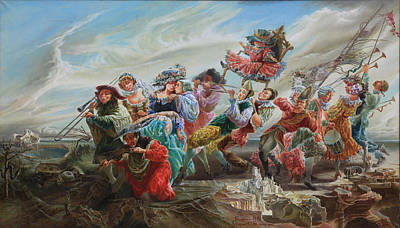 Painting - Triumph Of The Doll. From Triptych Procession by Maya Gusarina