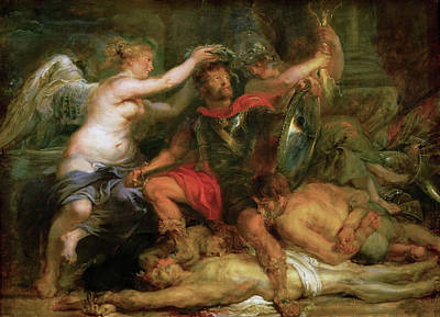 Belgium Painting - Triumph Of Victory by Peter Paul Rubens