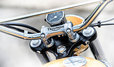 Handlebar Photograph - Triumph Scrambler Abstract by Tim Gainey
