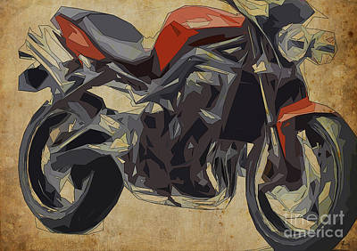 Triumph Speed Triple 2011 Art Print by Pablo Franchi