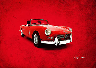 Retro Car Photograph - Triumph Spitfire Mk2 by Mark Rogan