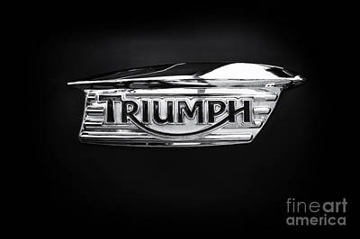 Photograph - Triumph Tank Badge by Tim Gainey