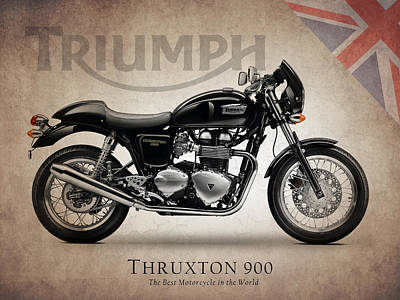 Triumph Bonneville Photograph - Triumph Thruxton 900 by Mark Rogan