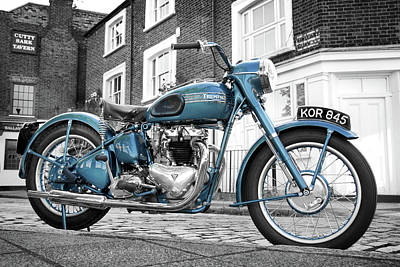 Thunderbird Photograph - Triumph Thunderbird 1952 by Mark Rogan
