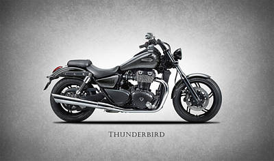 Triumph Bonneville Photograph - Triumph Thunderbird by Mark Rogan