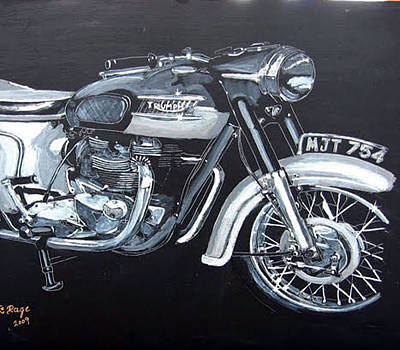 Painting - Triumph Thunderbird by Richard Le Page