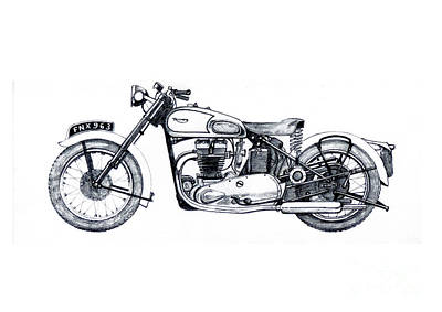 triumph motorcycle drawings