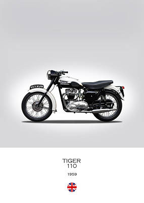 Motorcycle Photograph - Triumph Tiger 1959 by Mark Rogan