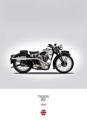 Triumph Tiger 90 Art Print