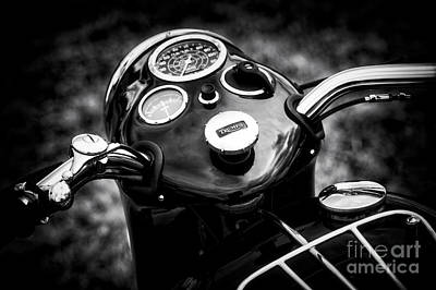 Triumph Tiger T110 Detail Art Print by Tim Gainey