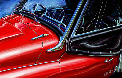Tr Painting - Triumph Tr-3 Sports Car Detail by David Kyte