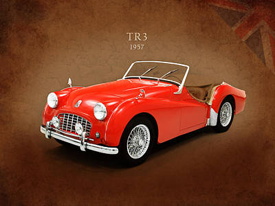 Tr Photograph - Triumph Tr3 1957 by Mark Rogan