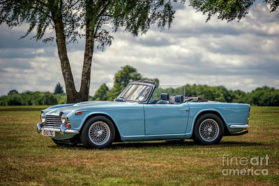 Blue Car Photograph - Triumph Tr4a 1965 by Adrian Evans