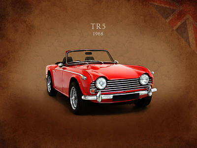 Retro Car Photograph - Triumph Tr5 1968 by Mark Rogan